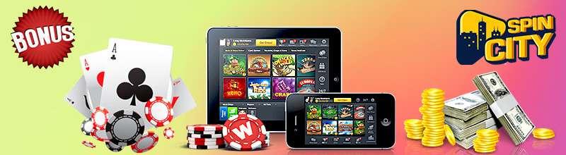 казино Spin City мобильная версия